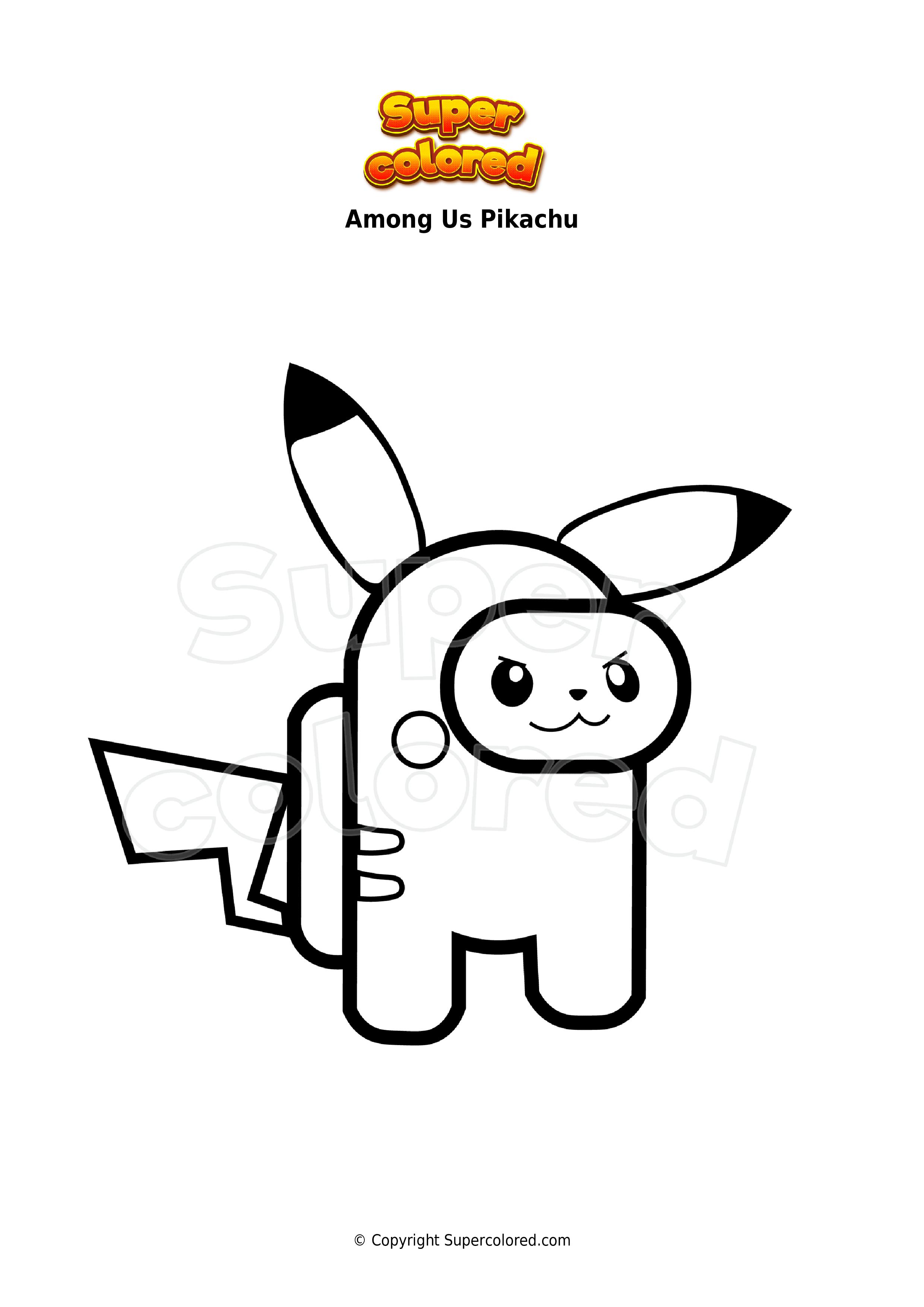Ausmalbild Among Us Pikachu - Supercolored.com