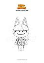 Ausmalbild Animal Crossing Bob