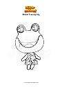 Ausmalbild Animal Crossing Lily