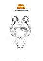 Ausmalbild Animal Crossing Ribbot