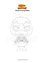 Ausmalbild Animal Crossing Weber