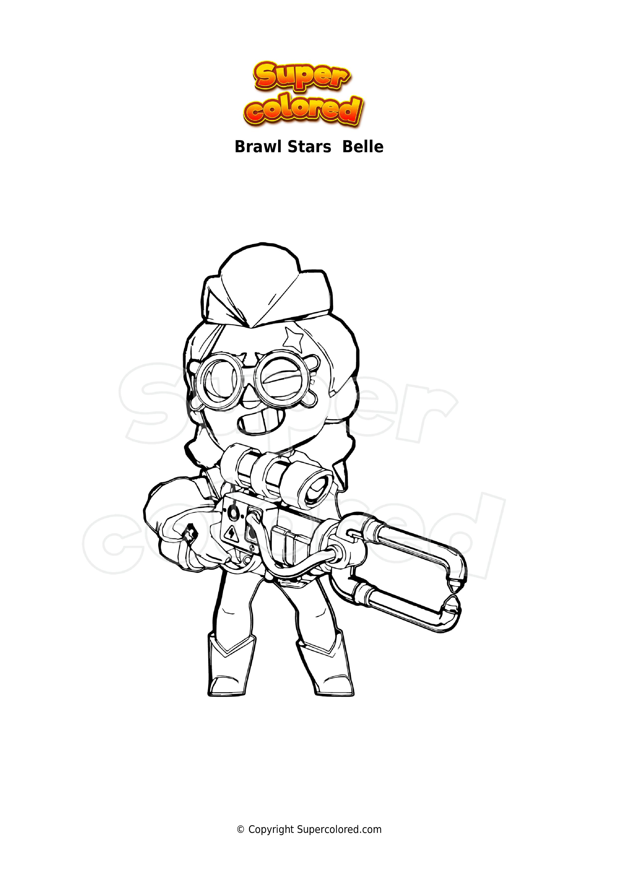 Ausmalbild Brawl Stars Belle - Supercolored.com