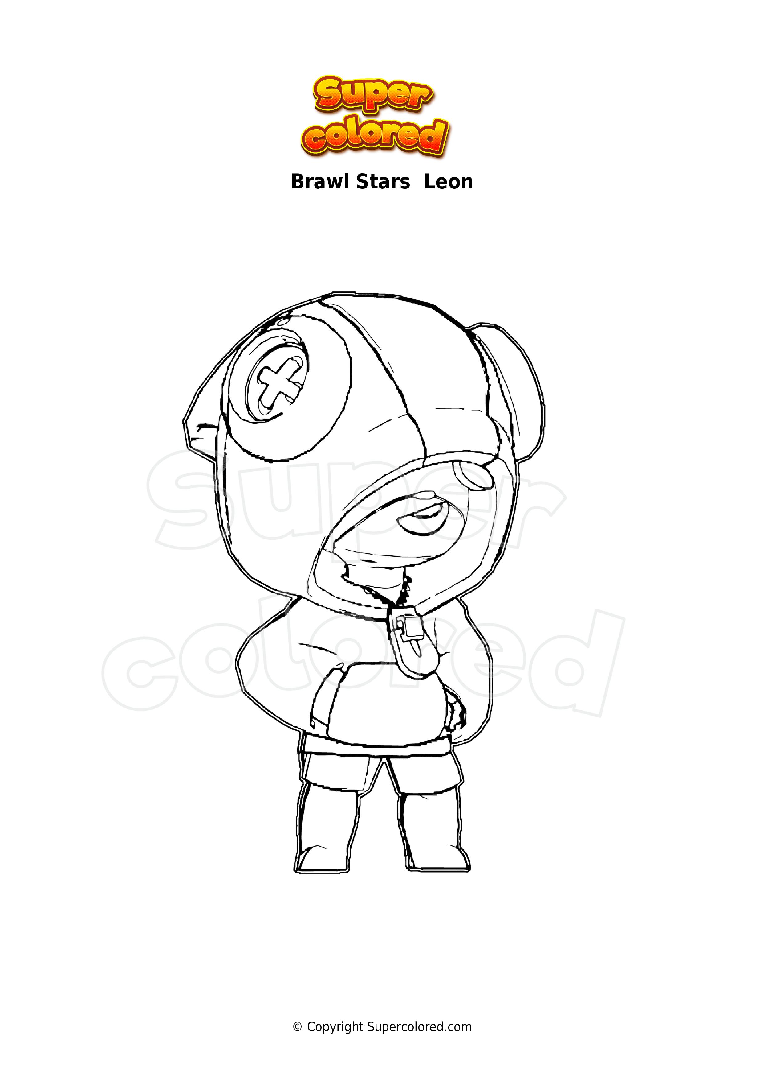 Ausmalbild Brawl Stars Leon - Supercolored.com