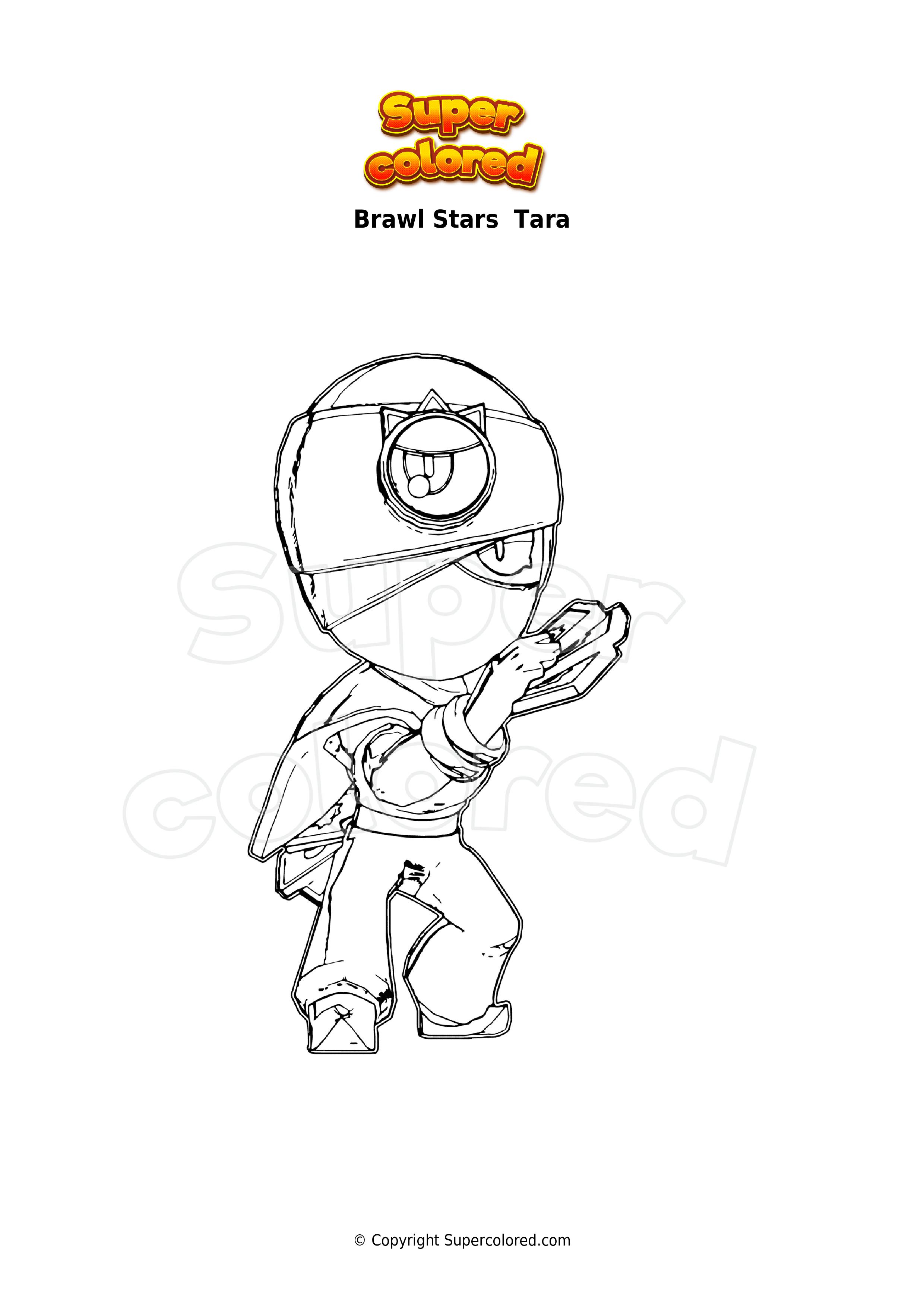 Ausmalbild Brawl Stars Tara - Supercolored.com