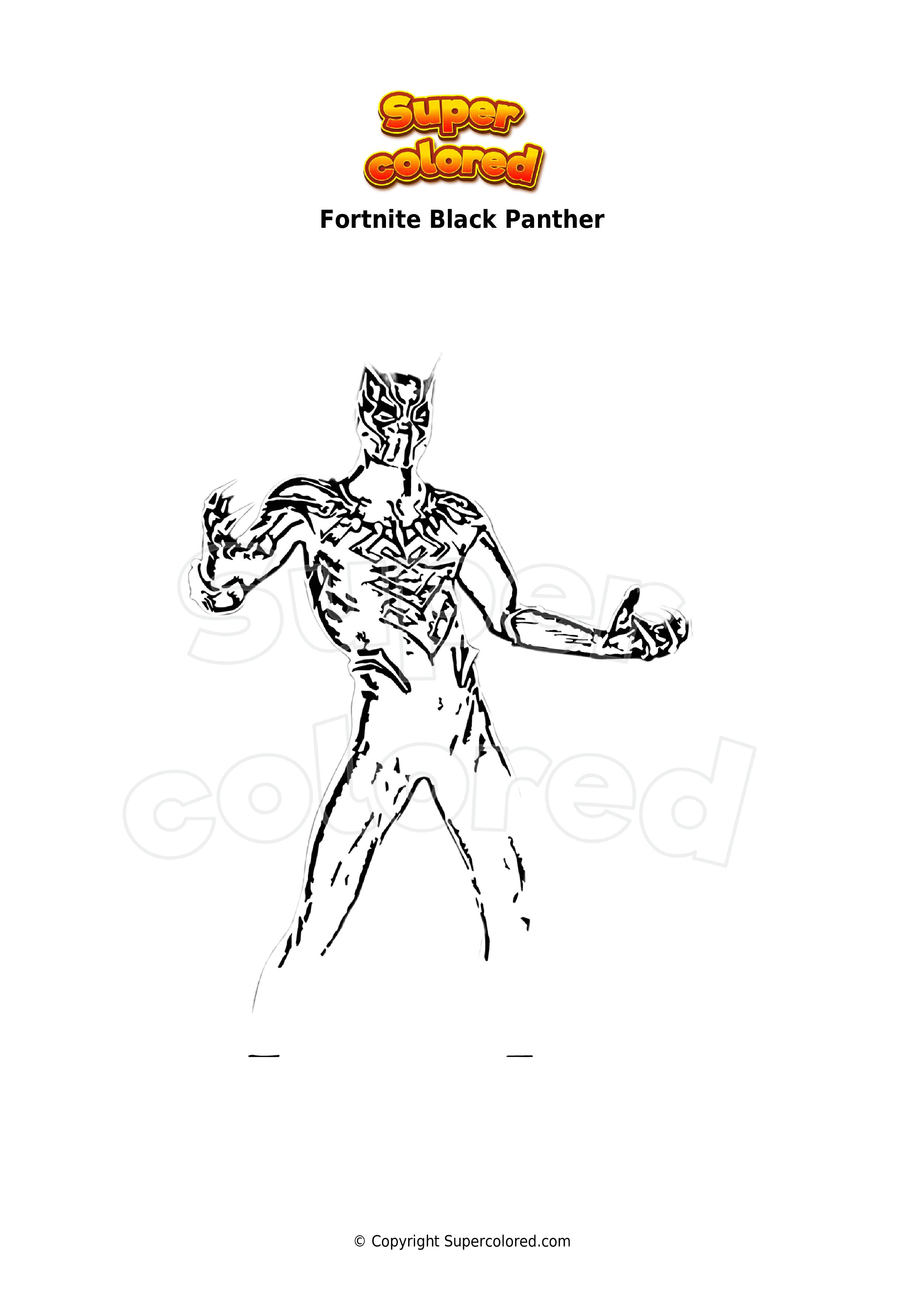 Ausmalbild Fortnite Black Panther - Supercolored.com
