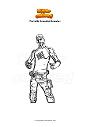 Ausmalbild Fortnite branded brawler