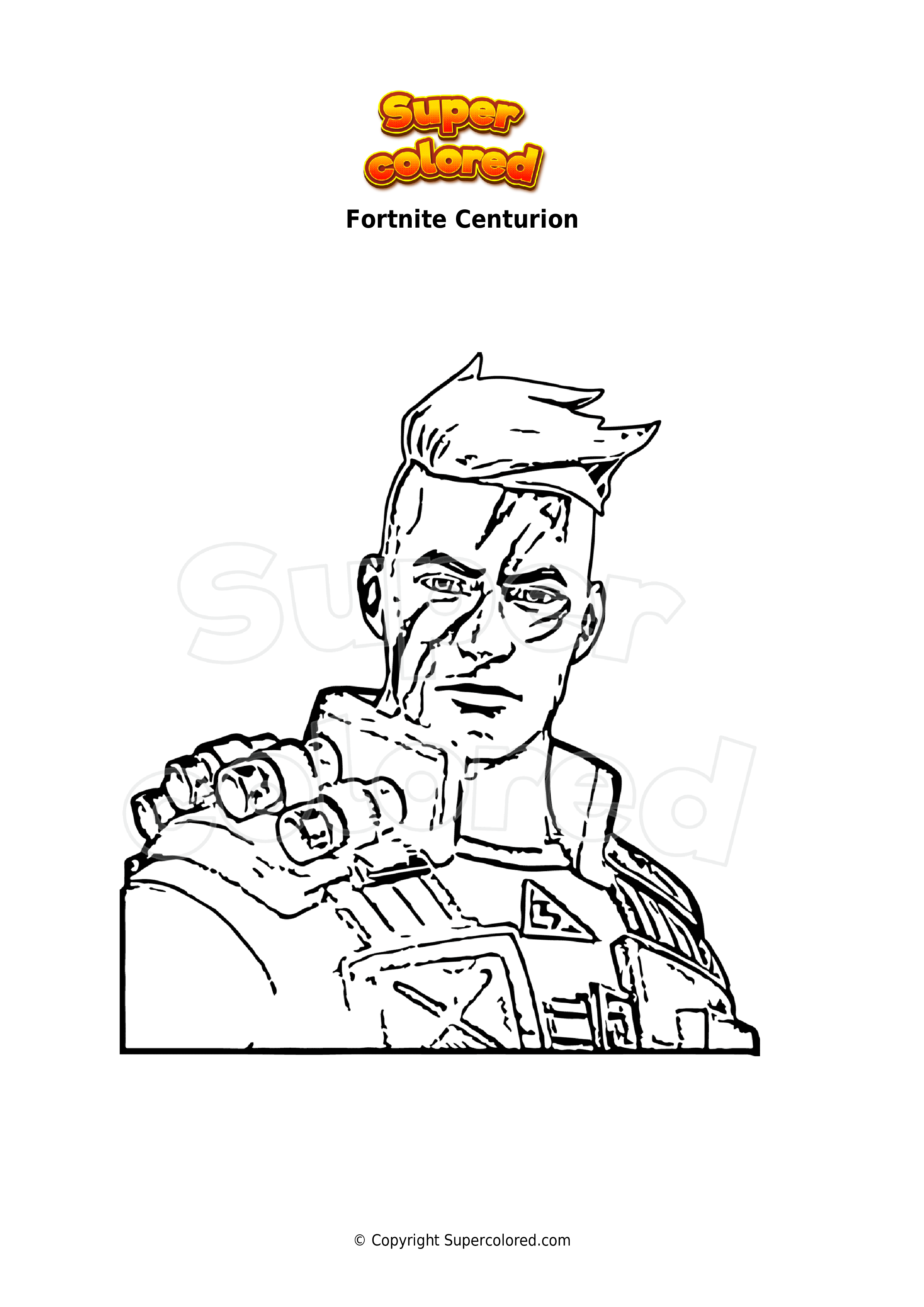 Ausmalbild Fortnite Centurion - Supercolored.com