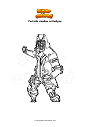 Ausmalbild Fortnite shadow archetype