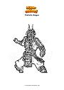 Ausmalbild Fortnite shogun