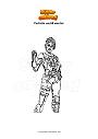 Ausmalbild Fortnite world warrior