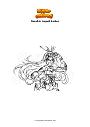 Ausmalbild Genshin Impact Amber