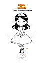 Ausmalbild Kleines Prinzessinnenmädchen