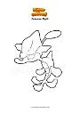Ausmalbild Pokemon Algitt