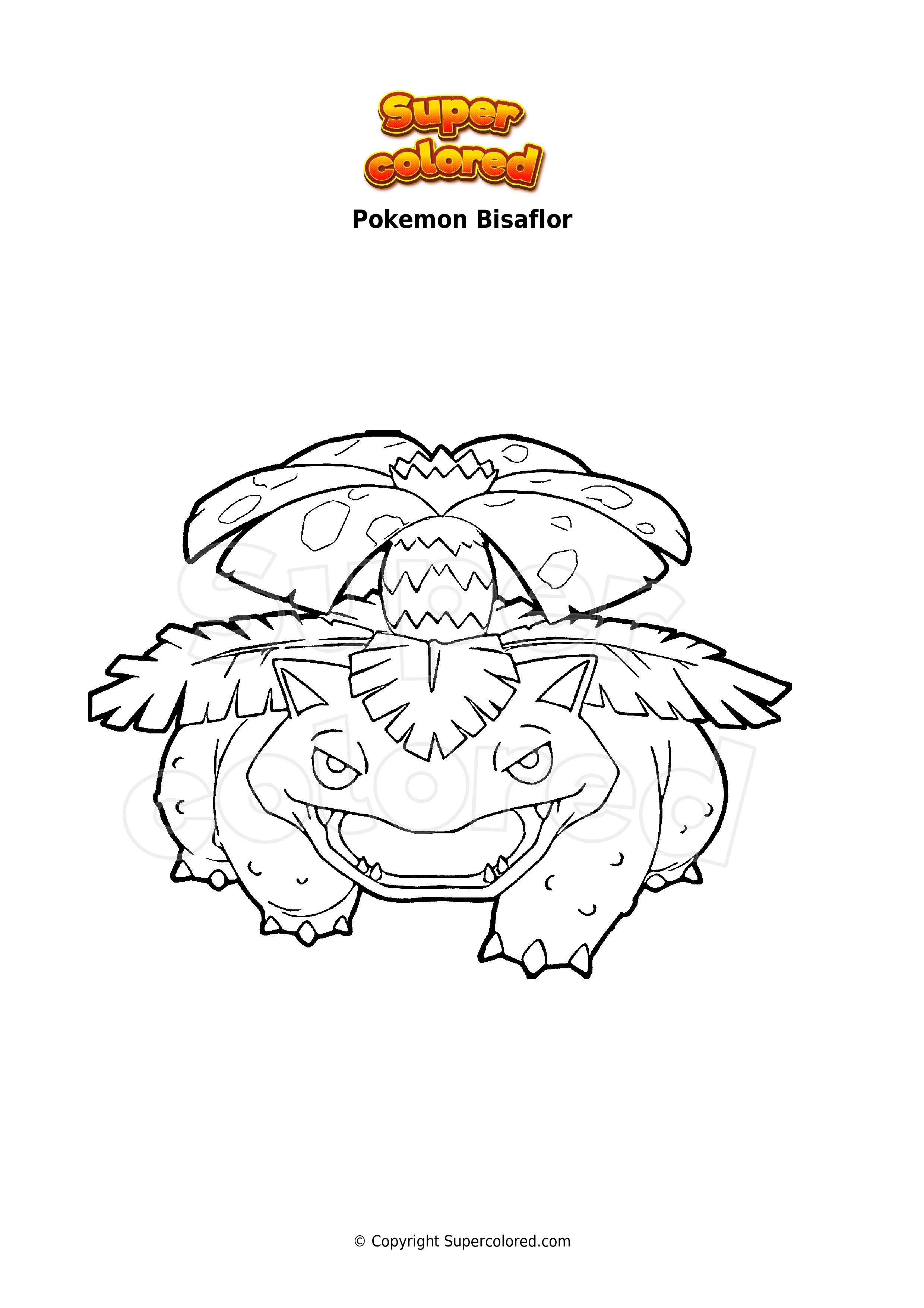 Ausmalbild Pokemon Bisaflor - Supercolored.com