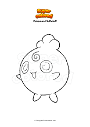 Ausmalbild Pokemon Fluffeluff