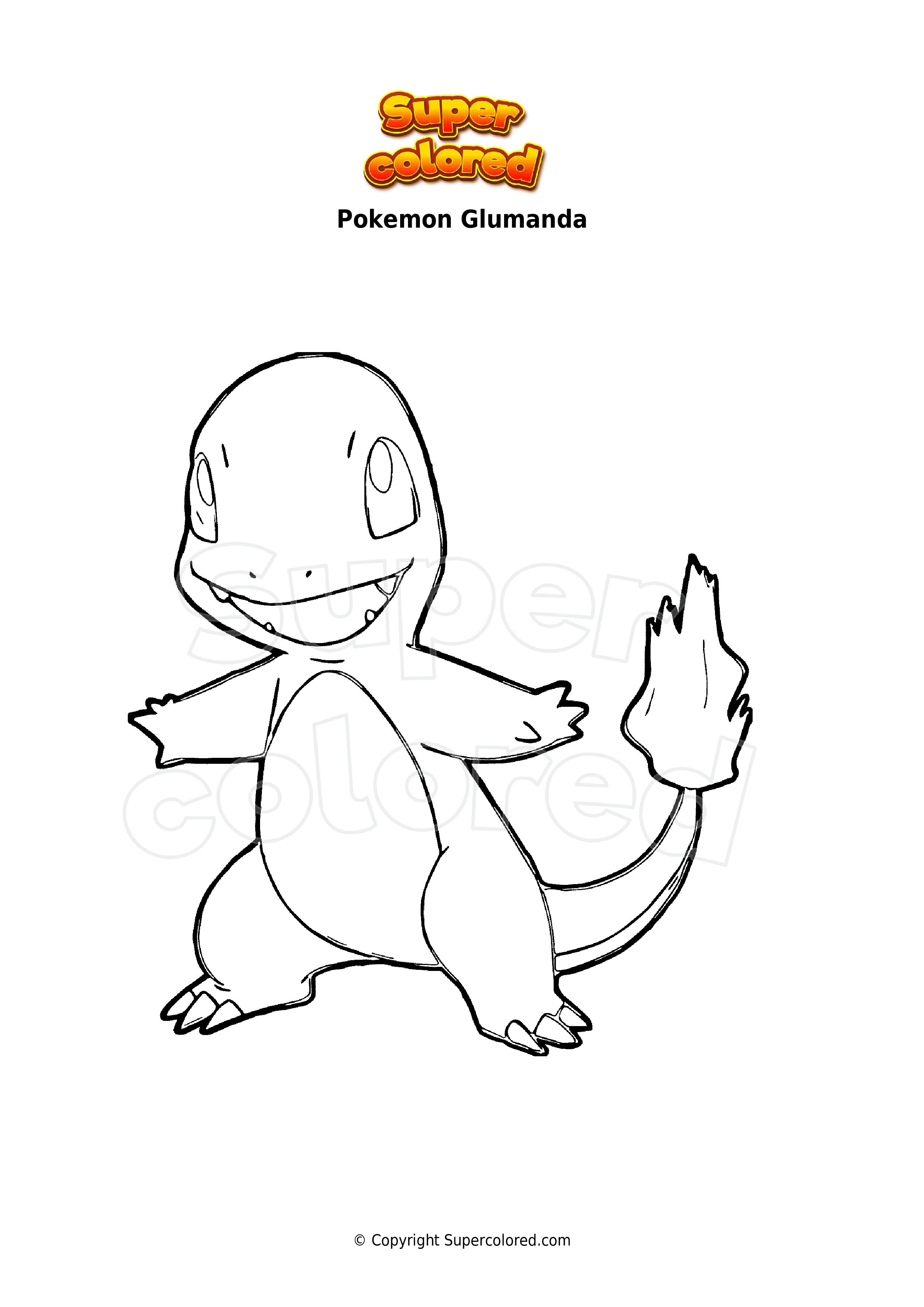 Ausmalbild Pokemon Glumanda - Supercolored.com