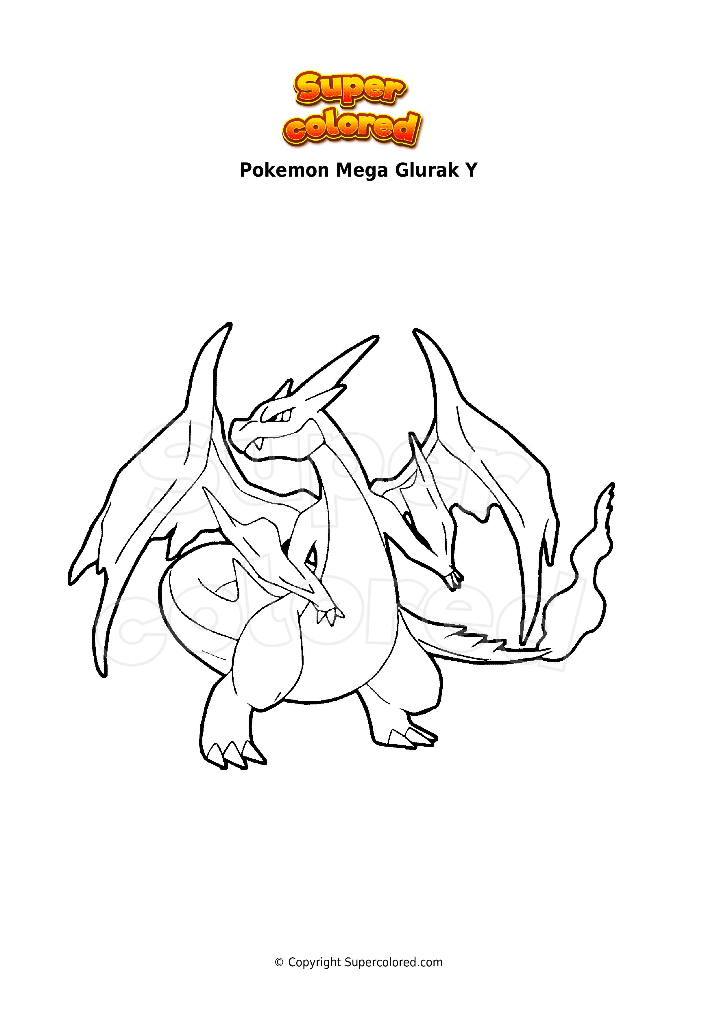 pokemon ausmalbilder glurak  imgabia