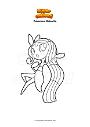 Ausmalbild Pokemon Meloetta
