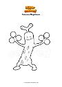 Ausmalbild Pokemon Mogelbaum
