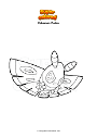 Ausmalbild Pokemon Pudox