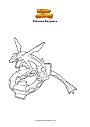 Ausmalbild Pokemon Rayquaza