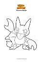 Ausmalbild Pokemon Skorgla