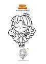Ausmalbild Prinzessin mit Blume