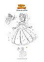 Ausmalbild Prinzessin mit Fee