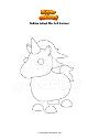 Ausmalbild Roblox Adopt Me Evil Unicorn