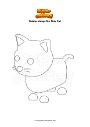 Ausmalbild Roblox Adopt Me Pink Cat