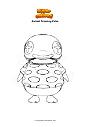 Coloriage Animal Crossing Cube