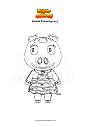 Coloriage Animal Crossing Lucy