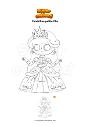Coloriage Cendrillon petite fille