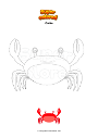Coloriage Crabe