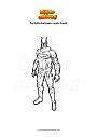Coloriage Fortnite batman comic book