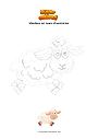 Coloriage Moutons en cours d'exécution