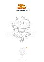 Coloriage Petite princesse ours