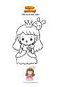 Coloriage Princesse avec lapin