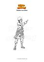 Coloriage Sasuke sleeveless