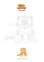 Coloriage Tigre assis
