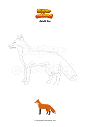 Coloring page Adult fox
