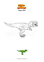 Coloring page Angry T-Rex