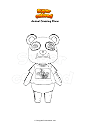 Coloring page Animal Crossing Chow