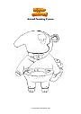 Coloring page Animal Crossing Cyrano