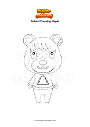 Coloring page Animal Crossing Maple