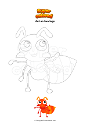 Coloring page Ant on two legs