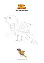 Coloring page Bird that takes flight
