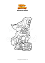 Coloring page Brawlhalla thatch