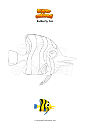 Coloring page Butterfly fish