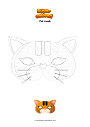Coloring page Cat mask